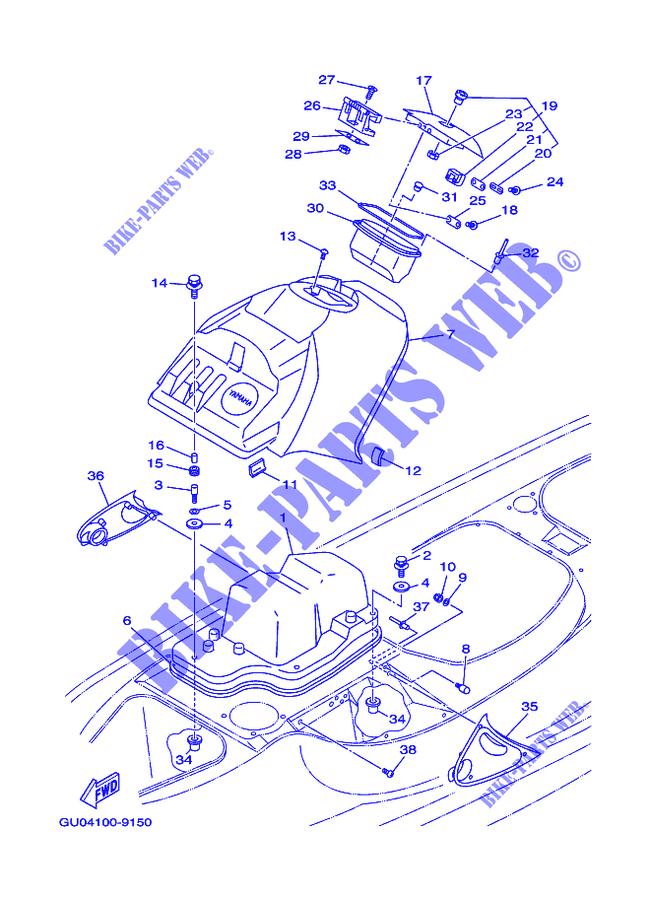 SUPPORT  LID Yamaha GP7-6517P-01-00